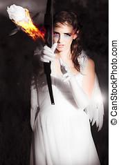 anjo, fogo, cupid, romance, armando, corações