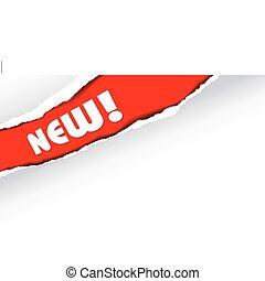 ankündigung, (red), neu , posten