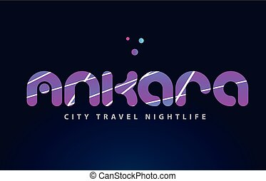 ankara european capital word text typography design
