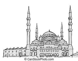 Ankara, Turkey famous Travel Sketch