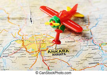Antakya hatay turkey map airplane Close up of antakya stock