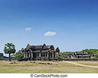 ankgor wat famous landmark temple detail near siem reap...