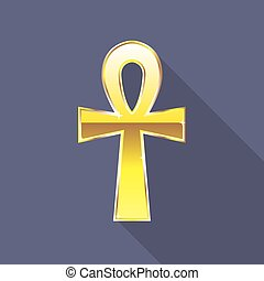 Ankh Egyptian Cross Golden