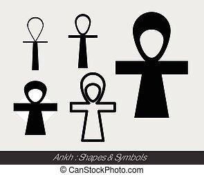 ankh, símbolos