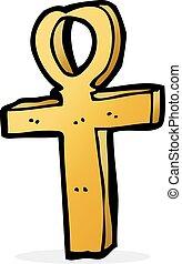 ankh, symbol, karikatur