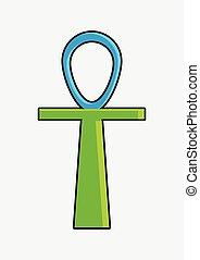 Ankh Symbol Vector Shape