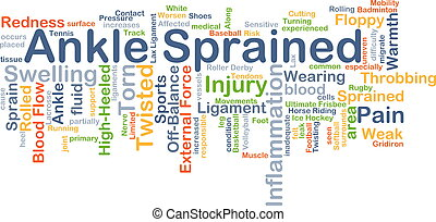 Ankle sprained background concept - Background concept...