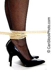 Ankles in bondage