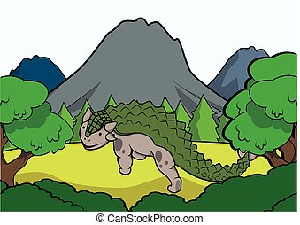 anklysaurus Prehistoric scene