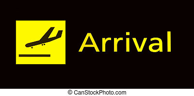 ankunft, flughafen, zeichen