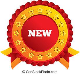 ankunft, neu , icon., button., zeichen