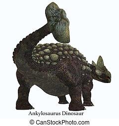 Ankylosaurus Dinosaur Tail with Font