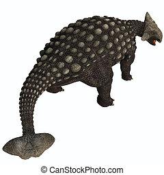 ankylosaurus, isolado