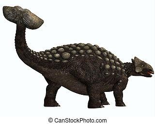 Ankylosaurus on White - Ankylosaurus was a heavily armored...