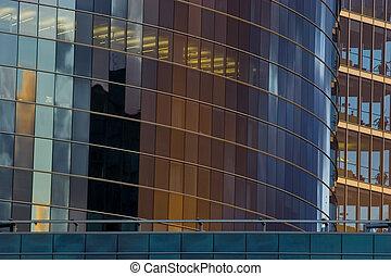 anläggande front, skyskrapa, kontor