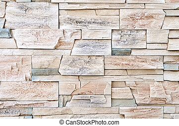 anläggning steniga, vägg, material, dekoration, yttre, inre,...