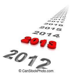 année, 2013, et, avenir