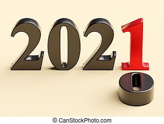 année, 2021, nouveau, 2020, vieux, remplace