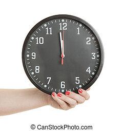 année, compte rebours, courant, temps, nouveau, dehors