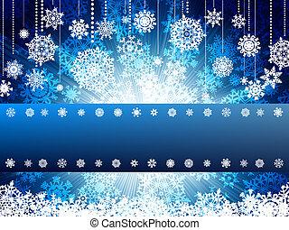 année, eps, cristmas, clair, nouveau, 8, template., carte