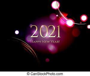 année, fond, nouveau, noir, carte, heureux