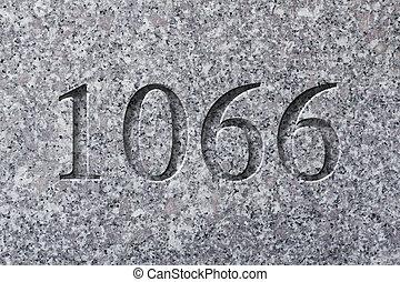 année, gravé, historique, 1066