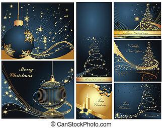 année, heureux, joyeux noël, nouveau