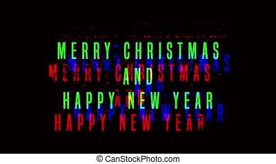 année, noël, nouveau, joyeux, heureux, greetings.