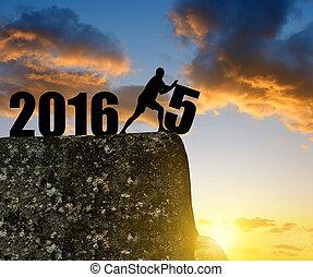 année, nouveau, 2016