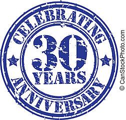 années, célébrer, 30, gr, anniversaire