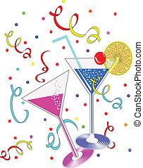 années, cocktails, nouveau
