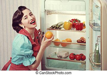 années soixante, publicité, réfrigérateur