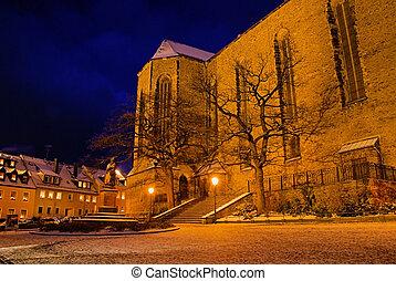 Annaberg-Buchholz church night 01 - Annaberg-Buchholz church...