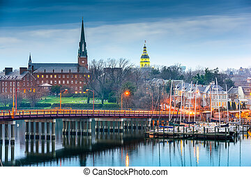 annapolis, maryland, op, de, chesapeake baai