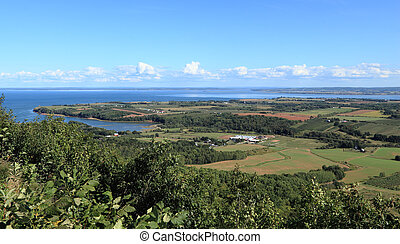 Annapolis Valley - View of Annapolis Valley and the Bay of...