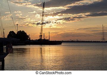 Annapolis waterfront sunrise