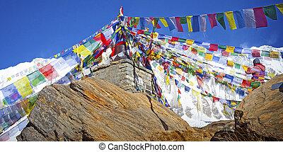 annapurna, circuit, trek, in, de, himalayas, van, nepal