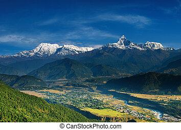 Annapurna massif, view from Sarangkot, Nepal