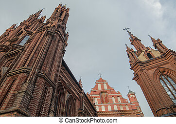 anne, rue, vilnius, église