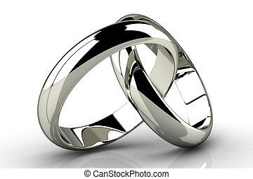 anneau, beauté, mariage
