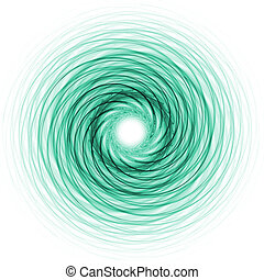anneau bleu, vert