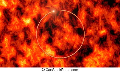 anneau, brûler