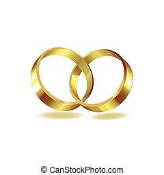 anneau, deux, mariage