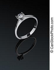 anneau, diamant, bijouterie