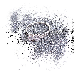 anneau, diamant