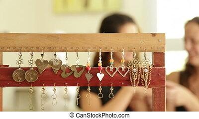 anneau, femme, concepteur, achats