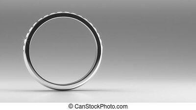 anneau, mariage, diamant