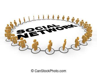 anneau, réseau, social