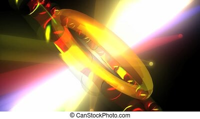 anneau, tourner, brillant