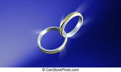 anneaux, 3d, mariage